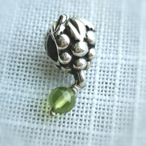 Pandora Green Grapes charm Sterling Silver